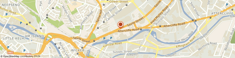 Route/map/directions to R m C Aggregates (Eastern) Ltd, S4 7UL Sheffield, R M C HOUSE, SAVILE STREET