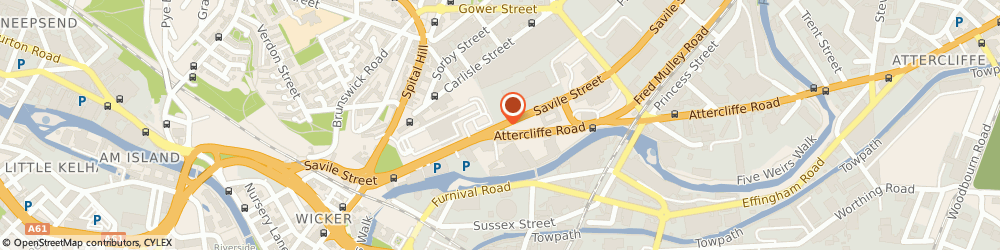 Route/map/directions to CMC Sheffield, S4 7TQ Sheffield, 3 SAVILE STREET
