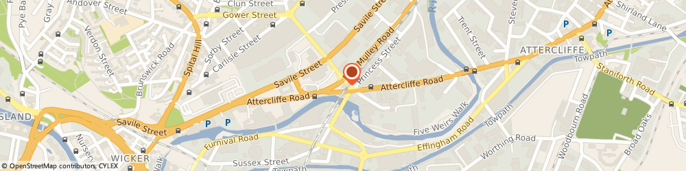 Route/map/directions to Nationwide Repairs SHEFFIELD, S4 7WG Sheffield, 15 Sutherland Street