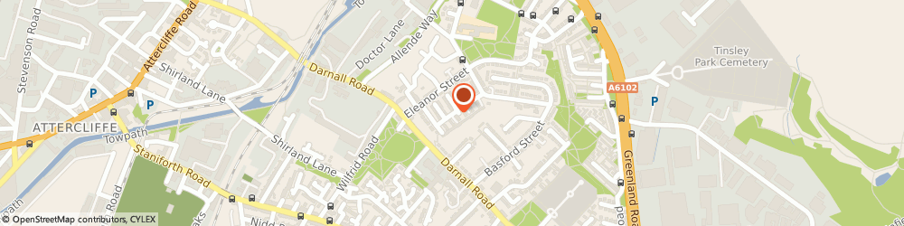 Route/map/directions to Jaflong Indian Restaurant Limited, S9 5BY Sheffield, 16 UTTLEY CLOSE