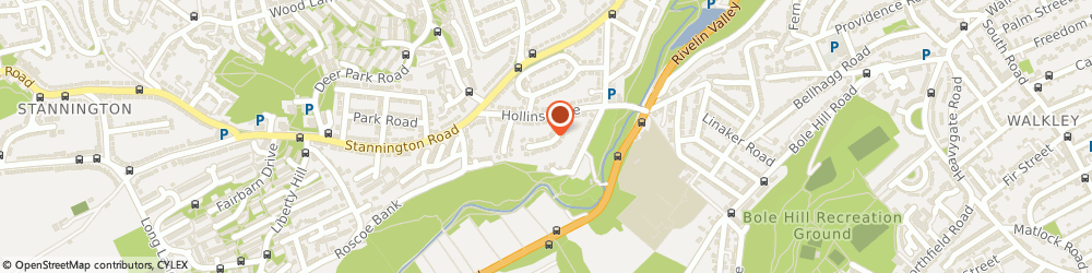 Route/map/directions to Hillsborough Surfacing, S6 5GP Sheffield, 25 Hollins Drive