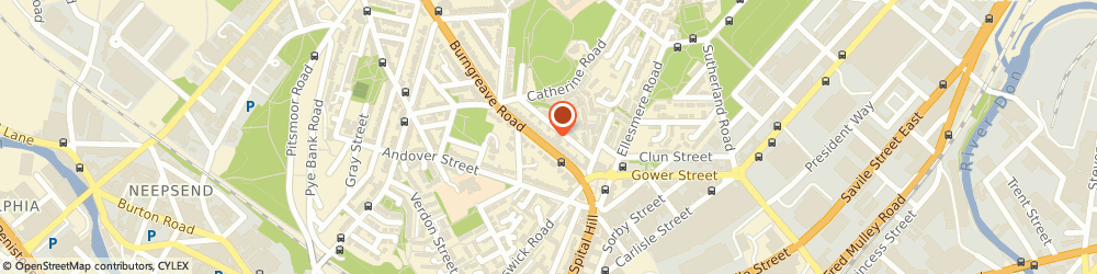 Route/map/directions to THAMES HOMECARE SERVICES (NORTH) LIMITED, S3 9DD Sheffield, 2 Burngreave Road