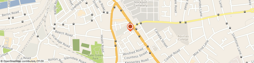 Route/map/directions to Spacialise, SK2 6PT Stockport, Hallam Street