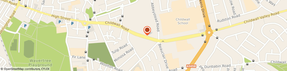 Route/map/directions to David King, L15 6WU Liverpool, Childwall Road