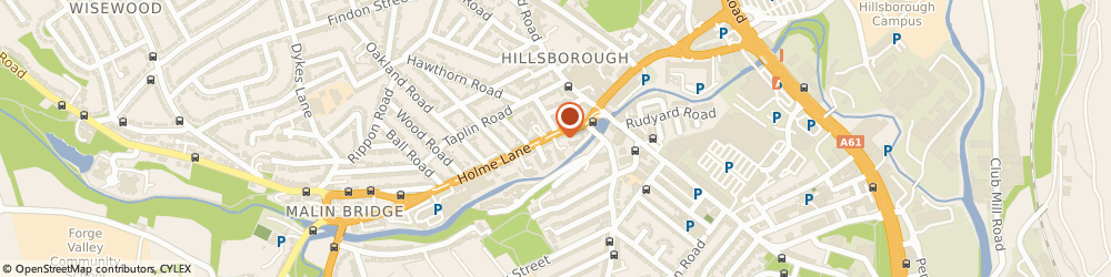 Route/map/directions to Hawleys Tyres - Team Protyre, S6 4JP Sheffield, 65 Holme Lane