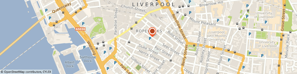 Route/map/directions to The Seel Street Hotel, L1 4AU Liverpool, 42 Seel Street