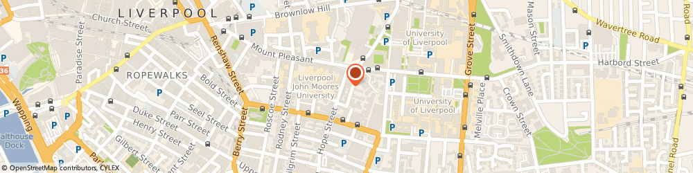Route/map/directions to The Painted Ladies, L1 9BQ Liverpool, 13 Hope Street
