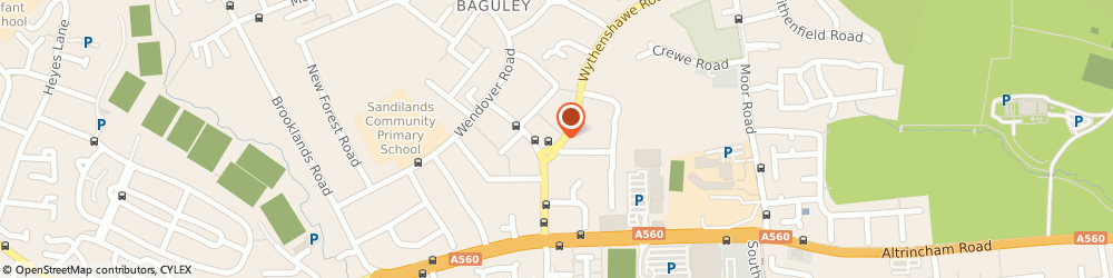 Route/map/directions to Lucky Ken Singing Chimney Sweep, M23 9AX Manchester, 514 Wythenshawe Road
