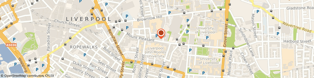 Route/map/directions to Zackery Robert Hotels Ltd, L3 5TF Liverpool, 113-125 MOUNT PLEASANT
