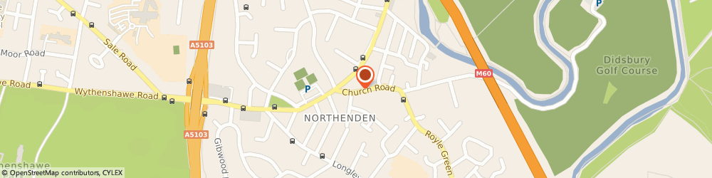 Route/map/directions to Wooshare Ltd, M22 4NN Manchester, 2 FLAT, 21 CHURCH ROAD