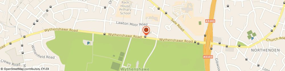 Route/map/directions to UK Telephone System, M23 0PF Manchester, 140 Wythenshawe Rd