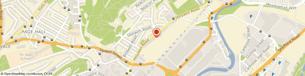 Route/map/directions to Meadowhall Motors, S4 8AS Sheffield, 88 Holywell Rd