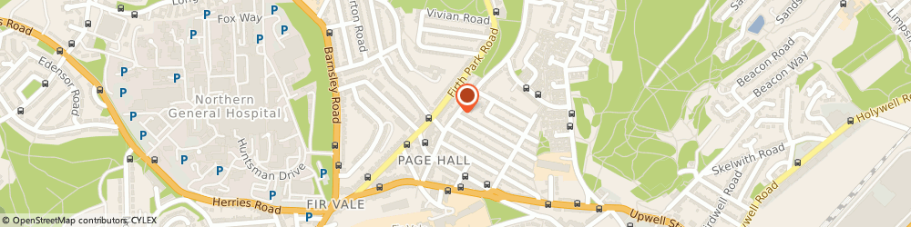 Route/map/directions to Gas Motorcycle Couriers, S4 8GZ Sheffield, 77 Hinde House Lane