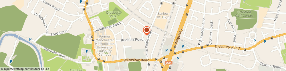 Route/map/directions to Manchester Holistic Massage, M20 5LQ Manchester, 99, DALSTON DRIVE