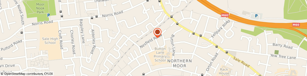 Route/map/directions to Budget Parties, M23 0HR Manchester, 133 Nesfield Road