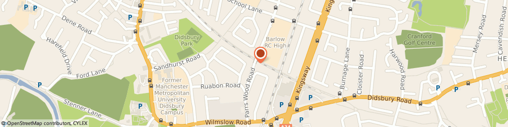 Route/map/directions to Didsbury Plumbing & Heating, M20 6JU Manchester, 336 Parrs Wood Rd