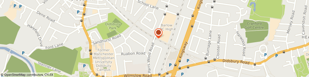 Route/map/directions to Francis House, M20 5NA Manchester, 390 Parrswood Road