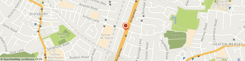 Route/map/directions to Didsbury Diy Supplies Ltd, M19 1GN Manchester, 170 School Ln
