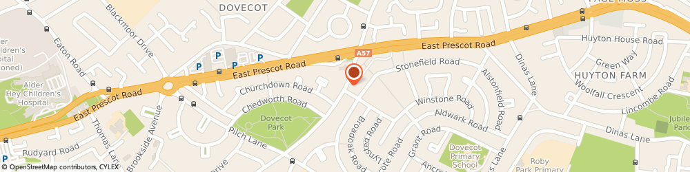Route/map/directions to Post Office Limited, L14 7QL Liverpool, 84 Dovecot Avenue