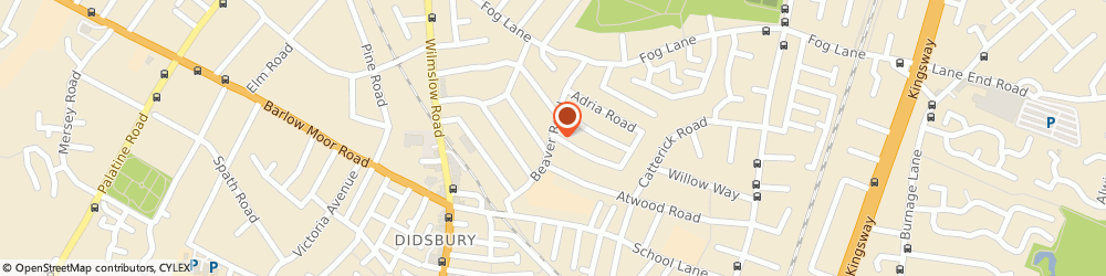 Route/map/directions to Didsbury Glass & Glazing, M20 6SR Manchester, 19 Beaver Road
