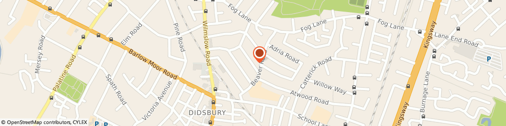 Route/map/directions to Anthony Coombs, M20 6BW Manchester, 18 Raynham Avenue