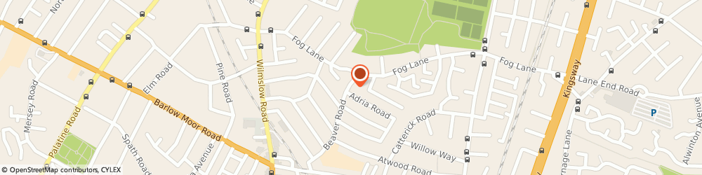 Route/map/directions to The Didsbury Village Carpenter, M20 6SR Manchester, 11 Beaver Rd