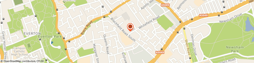Route/map/directions to Jobcentre Plus, L6 5DR Liverpool, 58 Breckfield Rd South