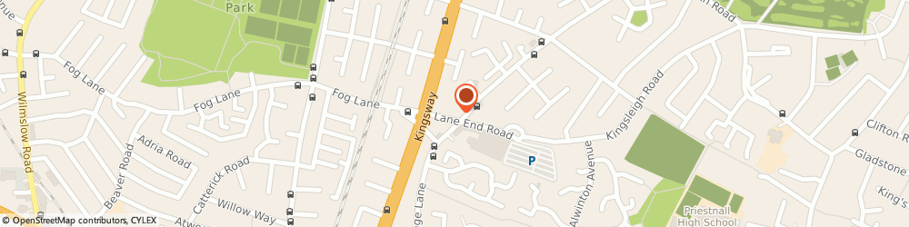 Route/map/directions to Louises Hair Design, M19 1WA Manchester, 3 Lane End Road