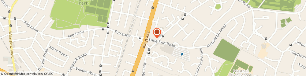 Route/map/directions to The Barber Shop, M19 1WA Manchester, 21 LANE END ROAD