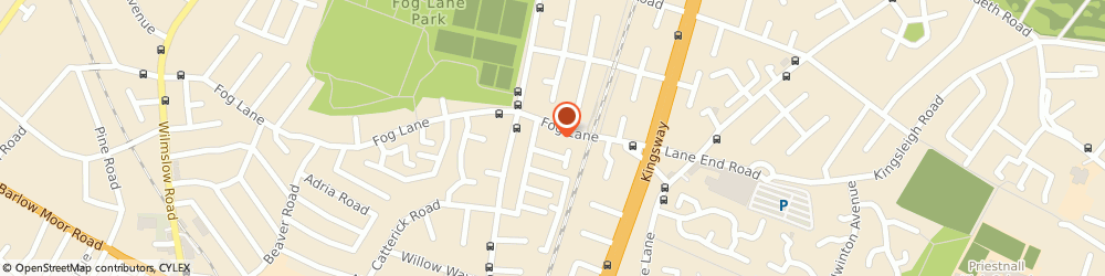 Route/map/directions to Fog Lane Laundrette & Dry Cleaners, M20 6EL Manchester, 248 Fog Ln