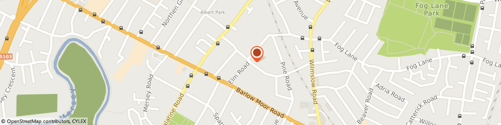 Route/map/directions to Metaphor Films Ltd, M20 6DB Manchester, 13 PARKFIELD RD SOUTH