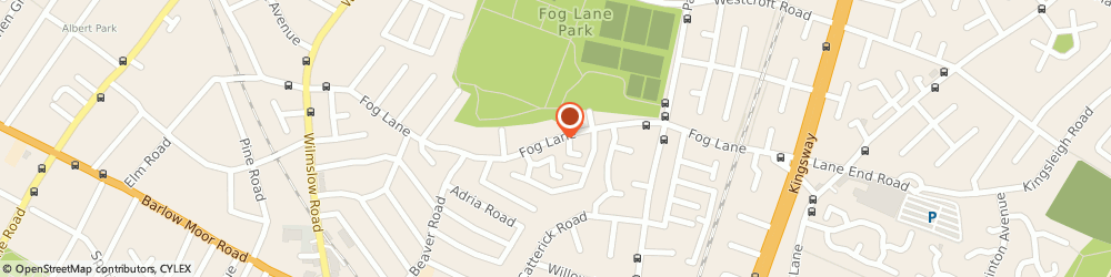 Route/map/directions to Fog Lane Park, M20 6SF Manchester, 139 Fog Ln