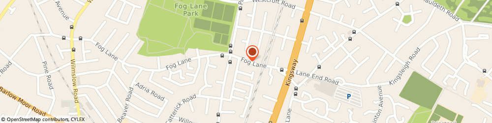 Route/map/directions to BARRYS, M20 6FJ Manchester, 167 FOG LANE