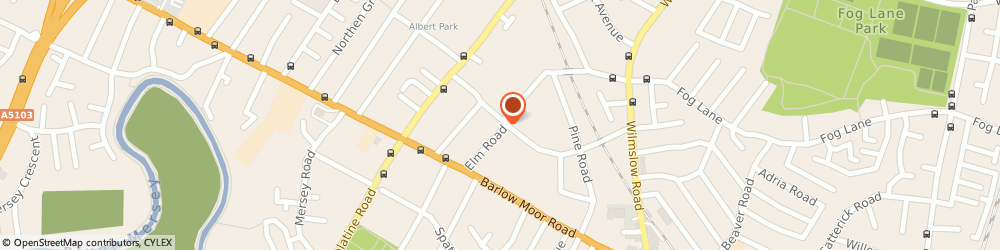 Route/map/directions to 7 Parkfield Road South Management Company Limited, M20 6DA Manchester, 7C PARKFIELD ROAD SOUTH