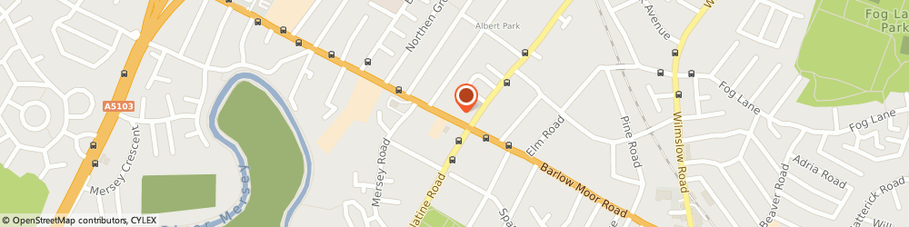 Route/map/directions to ELEGANCE HEALTH & BEAUTY SALON, M20 2PN Manchester, 106 Barlow Moor Road