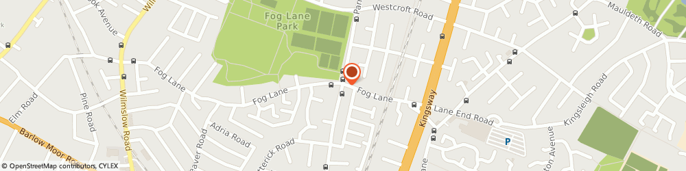 Route/map/directions to HAIR FLAIR, M20 6FJ Manchester, 149A FOG LANE