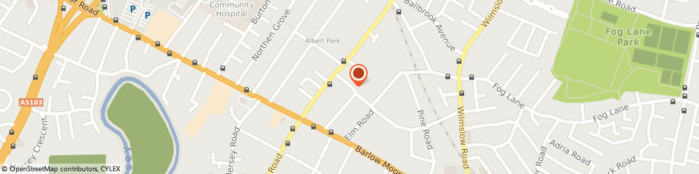Route/map/directions to Stonecroft Management Co. Limited, M20 6DA Manchester, STONECROFT COURT FLAT 2, PARKFIELD ROAD SOUTH