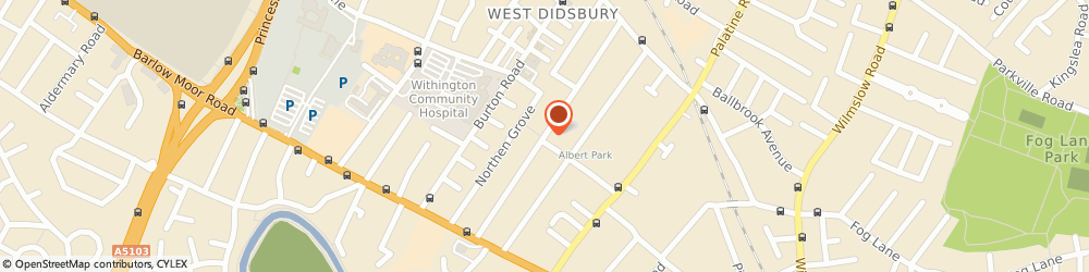 Route/map/directions to Able Gas & Heating Engineers, M201JP Manchester, 125 Burton Road