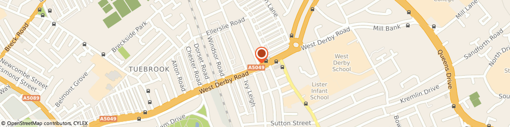 Route/map/directions to Costcutter Liverpool, L13 8AE Liverpool, 593/597 West Derby Road
