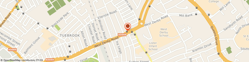 Route/map/directions to Post Office Limited, L13 8AE Liverpool, 593 - 597 West Derby Road