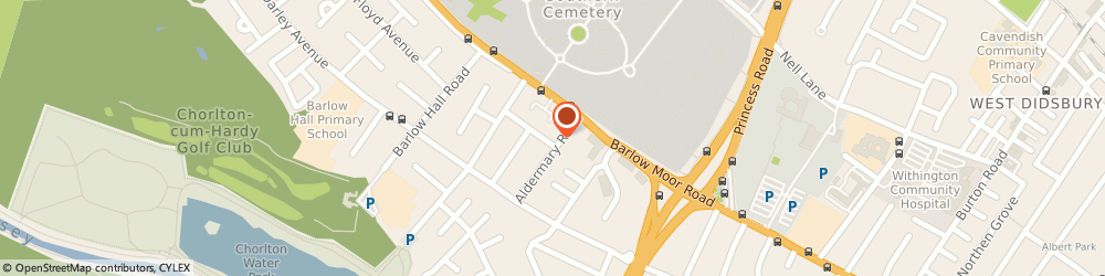 Route/map/directions to Oksana's Health Kinesiology, M21 7GN Manchester, 12 Callingdon Rd