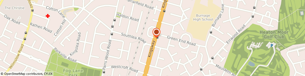 Route/map/directions to Bonton Hair & Beauty Salon, M19 1GA Manchester, 24 Kingsway Cres