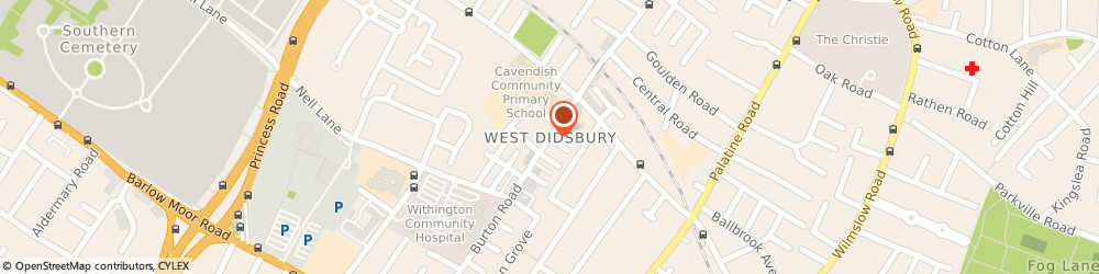Route/map/directions to BLUE IBIS LTD, M20 6US Manchester, West Didsbury