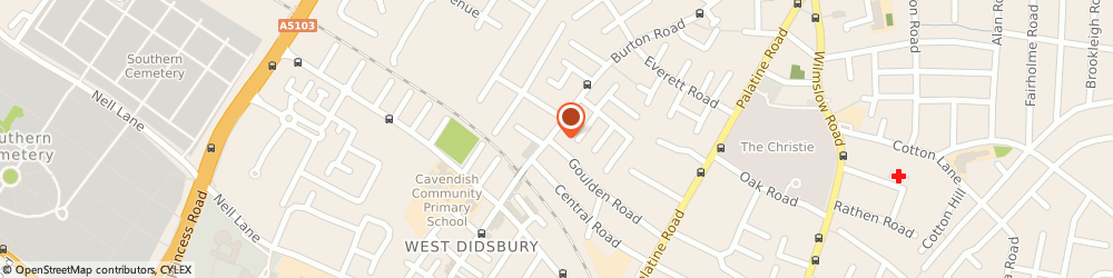 Route/map/directions to The Burton Rd Clinic Carolyn Greenhalgh, M20 1HZ Manchester, 121 Burton Rd