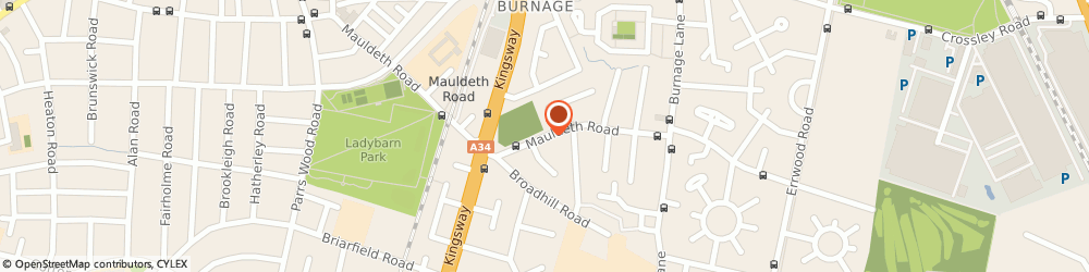Route/map/directions to Green End Hotel, M19 1DZ Manchester, Mauldeth Road