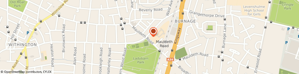 Route/map/directions to Ocean Dental Limited, M14 6SG Manchester, 169 Mauldeth Rd