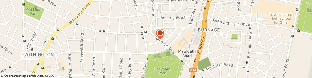 Route/map/directions to Mario Miniaci Ltd, M14 6SQ Manchester, 120 MAULDETH ROAD