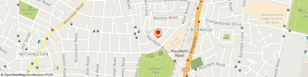 Route/map/directions to Yu & Me, M14 6SR Manchester, 101 Mauldeth Roadladybarn