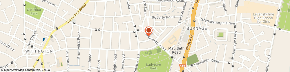 Route/map/directions to Specsavers Opticians and Audiologists - Fallowfield, M14 6SQ Fallowfield, 114 Mauldeth Road