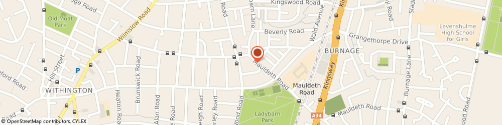 Route/map/directions to Lloyds Pharmacy Manchester, M14 6SQ Manchester, 110 Mauldeth Road